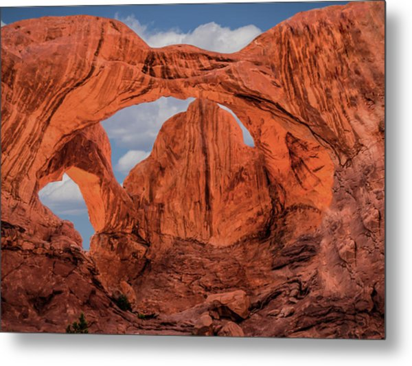 Metal Print featuring the photograph Double Arches At Arches National Park by Penny Lisowski