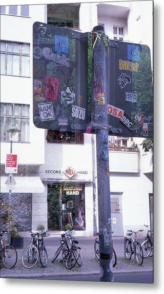 Double Exposure Street Sign Metal Print
