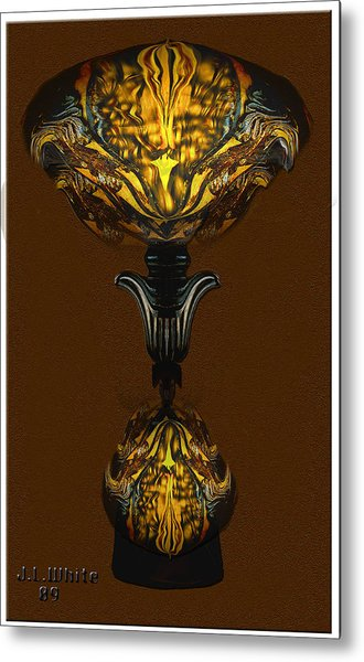 Double Lamp Metal Print by Jerry White