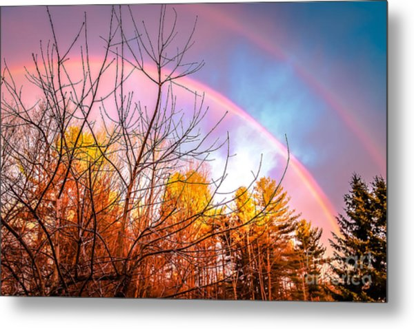 Double Rainbow-hdr Metal Print