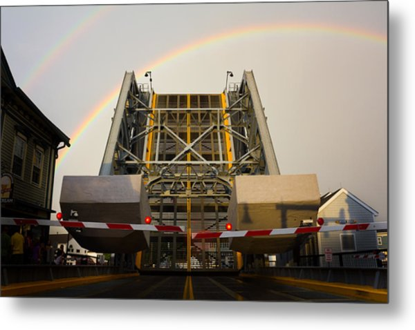 Double Rainbow Mystic Drawbridge Metal Print