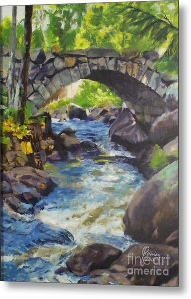 Double Stone Arch Bridge  Metal Print