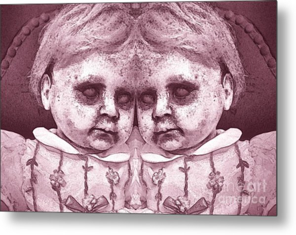 Double Trouble Two Metal Print