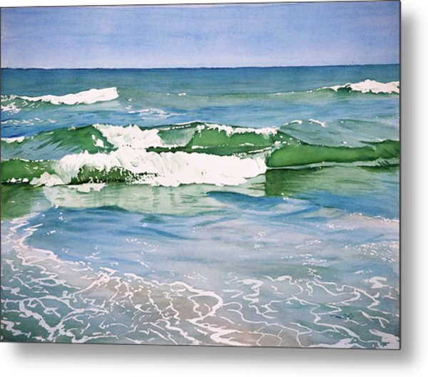 Double Wave Metal Print
