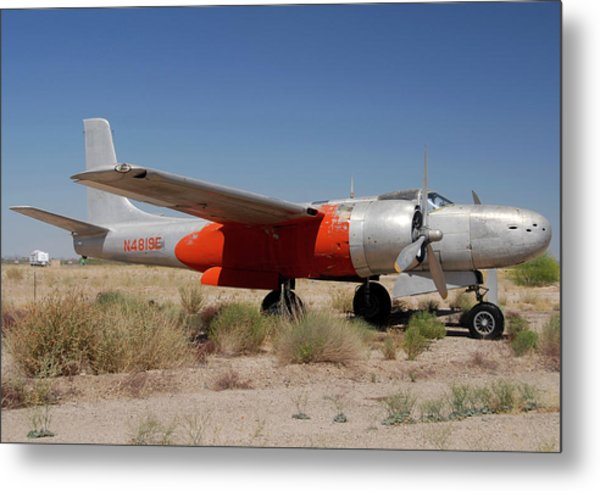 Douglas B-26b Invader N4819e Buckeye Arizona April 29 2011 Metal Print