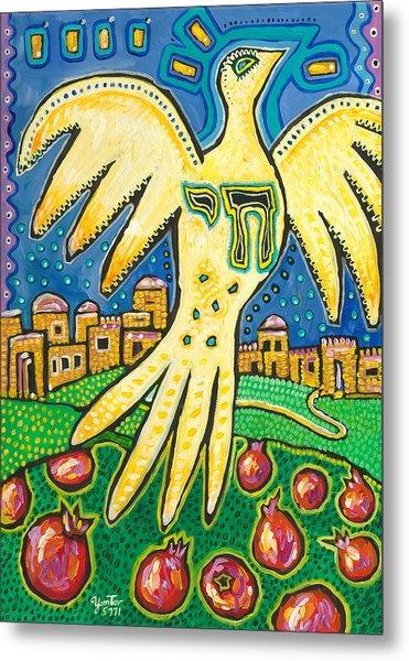 Dove Over Jerusalem Metal Print