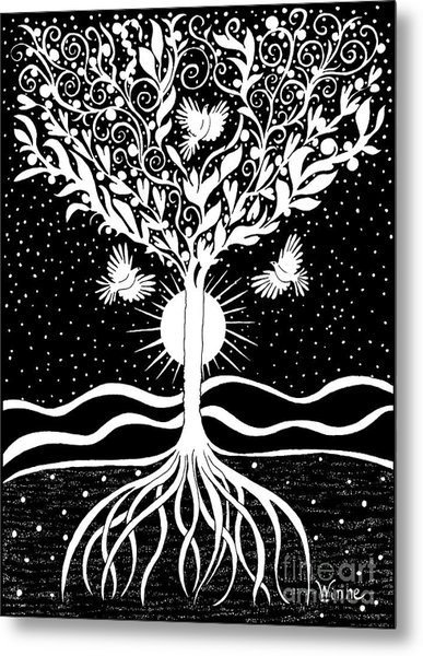 Dove Tree Metal Print