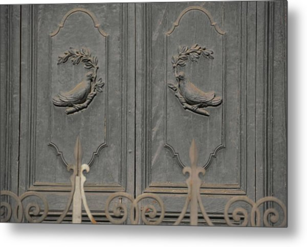 Doves On The Doorway Metal Print by JAMART Photography