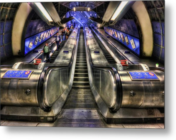 Down From A Cloud. Up From The Underground. Metal Print