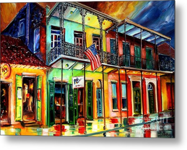 Down On Bourbon Street Metal Print