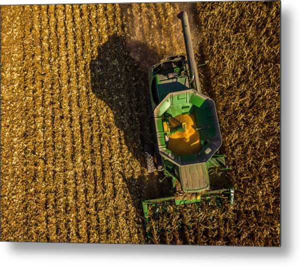 Down On The Combine Metal Print