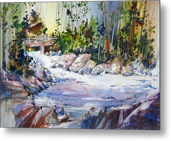 Down Stream On Hoppers Creek Metal Print