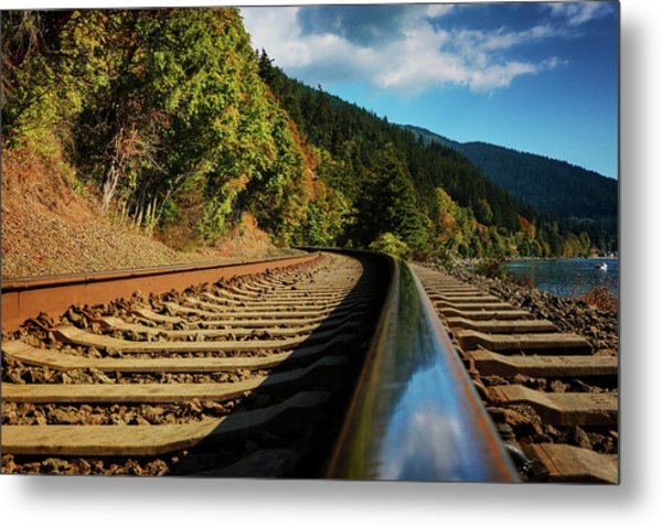 Down The Chukanut Line Metal Print