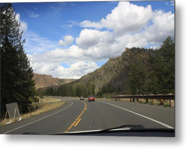 Down The Road Metal Print by Gregory Jeffries