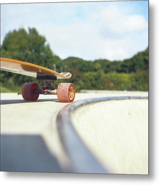 Metal Print featuring the photograph Down The Skatepark by Will Gudgeon
