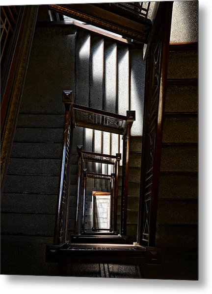 Down The Stairs Metal Print