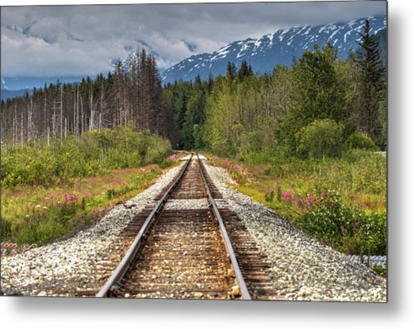 Down The Tracks Metal Print