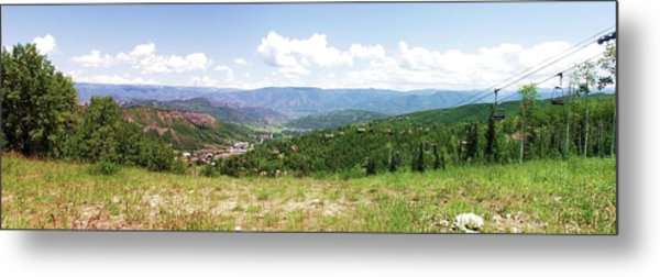Down The Valley At Snowmass #2 Metal Print