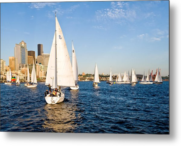 Down Wind Run Metal Print by Tom Dowd