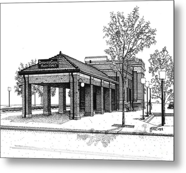 Downers Grove Main Street Train Station Metal Print