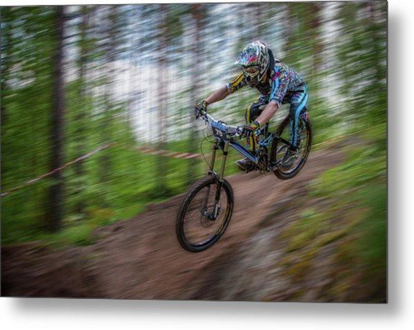 Downhill Race Metal Print
