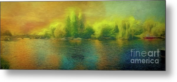 Downriver Glow Metal Print