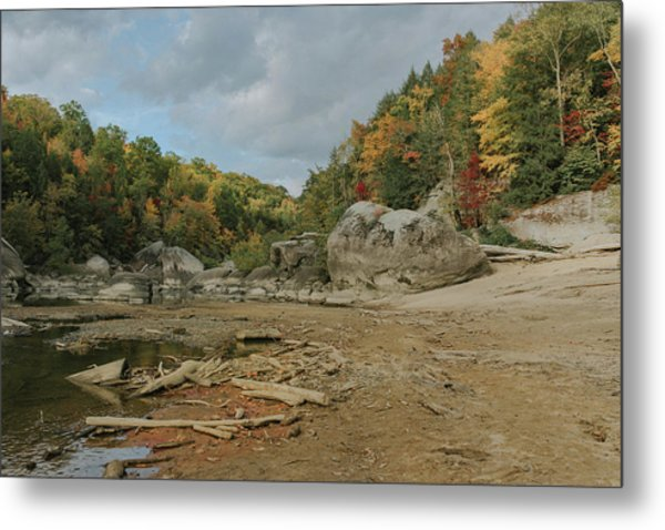 Downstream From Cumberland Falls Metal Print