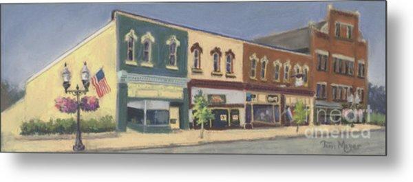 Downtown Ashland Ohio Metal Print by Terri  Meyer