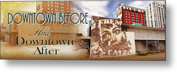 Downtown Before And Downtown After Metal Print