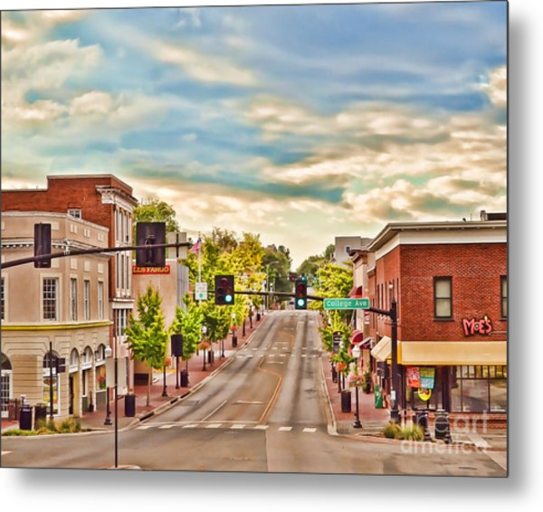 Downtown Blacksburg Metal Print