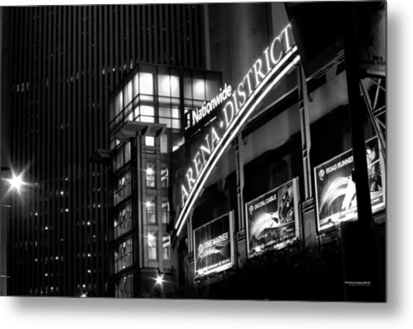 Metal Print featuring the photograph Downtown Columbus Bw1734 by Brian Gryphon