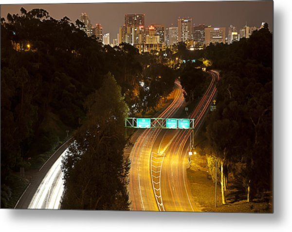 Downtown From El Prado Metal Print