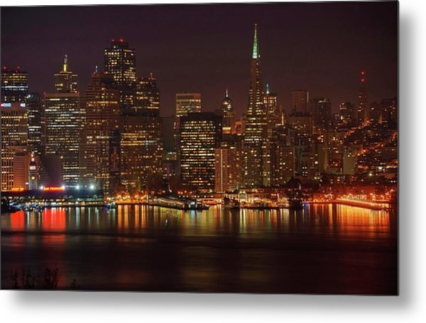 Downtown Gotham City Metal Print