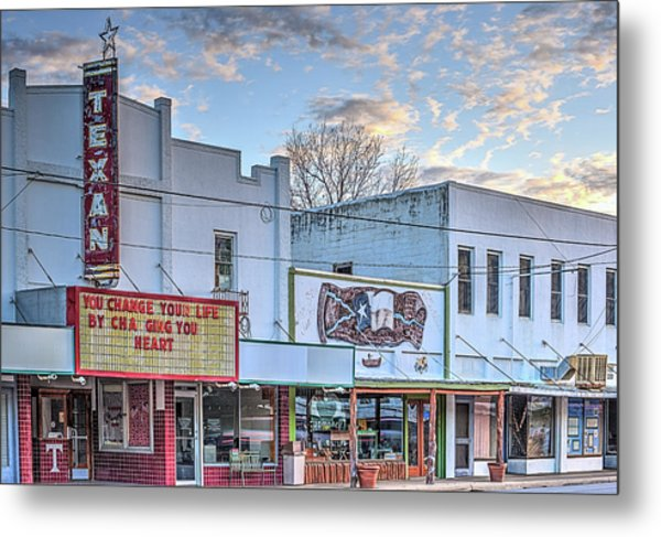 Downtown Junction Texas Metal Print by JC Findley