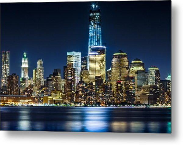 Downtown Manhattan From Hoboken Metal Print