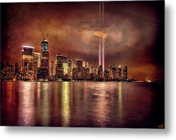 Downtown Manhattan September Eleventh Metal Print