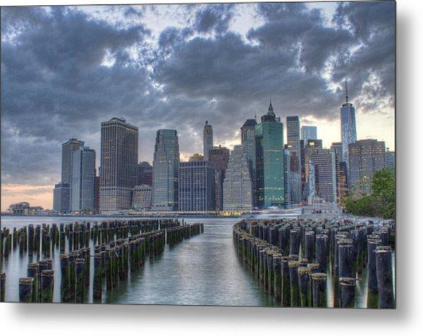 Downtown Manhattan Metal Print by Zev Steinhardt