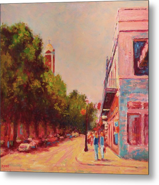 Downtown Mobile On Dauphin By Cathedral Park Metal Print