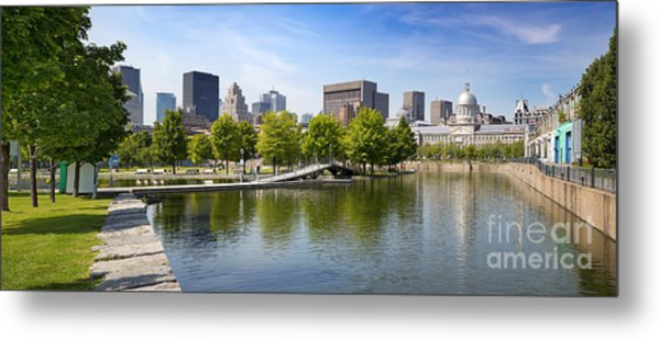 Downtown Montreal In Summer Metal Print