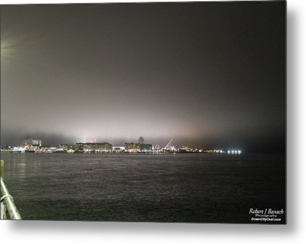 Downtown Oc Skyline Metal Print