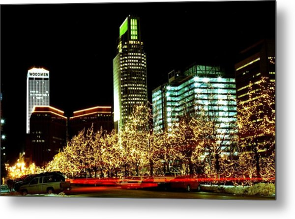Downtown Omaha Skyline Metal Print