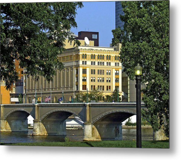 Downtown On The River Metal Print