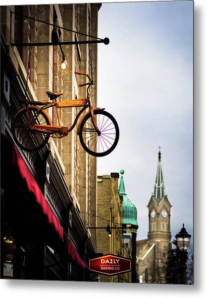 Downtown Port Washington, Wisconsin Metal Print