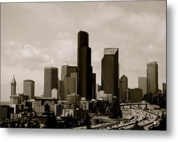 Downtown Seattle Metal Print by Sonja Anderson