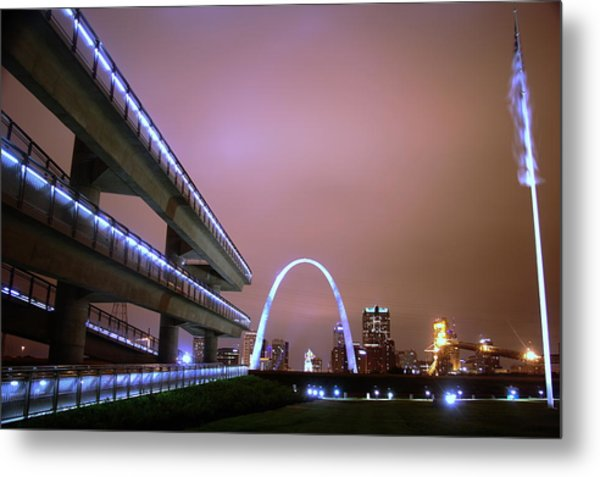 Downtown St. Louis From The East Side Metal Print