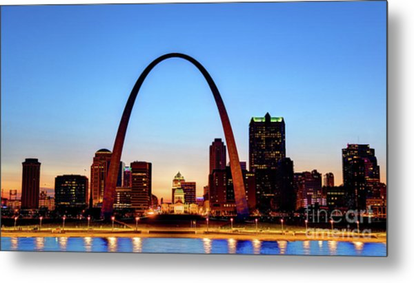 Downtown St Louis, Missouri Skyline Metal Print by Denis Tangney Jr