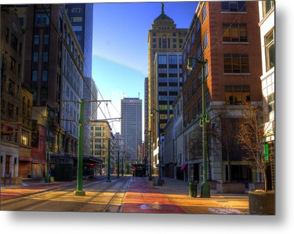 Downtown Sunday Morning In February Metal Print
