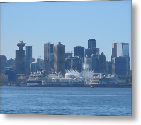 Downtown View From North Vancouver Metal Print