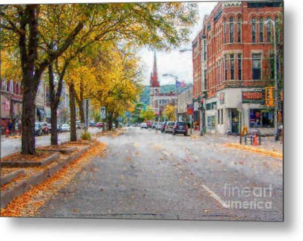 Metal Print featuring the photograph Downtown Winona Painting Effect by Kari Yearous