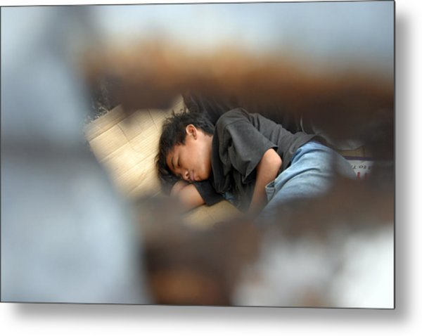 Dozing For As Long As I Can Metal Print by Jez C Self